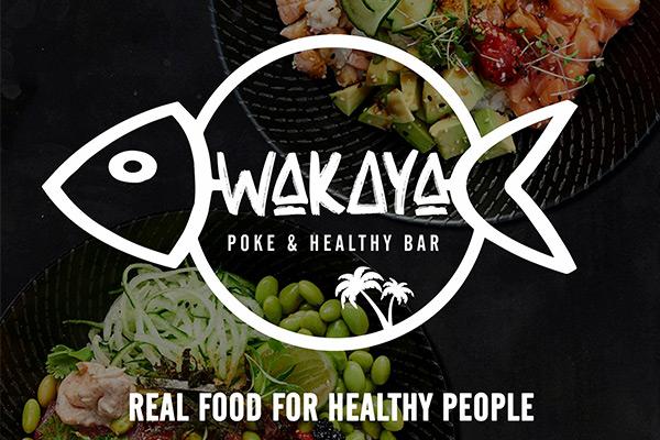 Logotipo Wakaya Poke & Healthy Bar